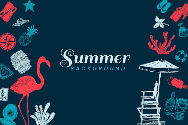 Dark blue summer background