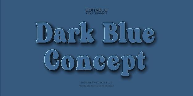 ダークブルーのテキスト、ニューモルフィズムスタイルの編集可能なテキスト効果
