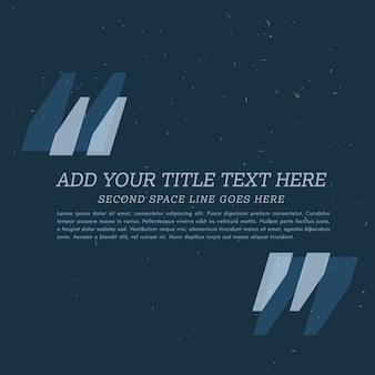 あなたのテキストを追加するためのスペースを持つダークポスター