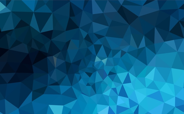 Dark blue vector abstract polygonal template.
