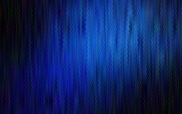 Dark blue vector background with bent ribbons