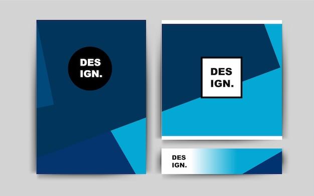 Dark blue vector banner for websites