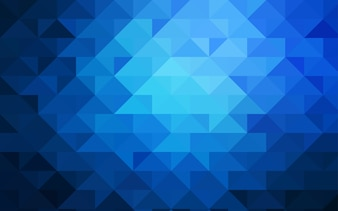 Dark BLUE vector blurry triangle pattern