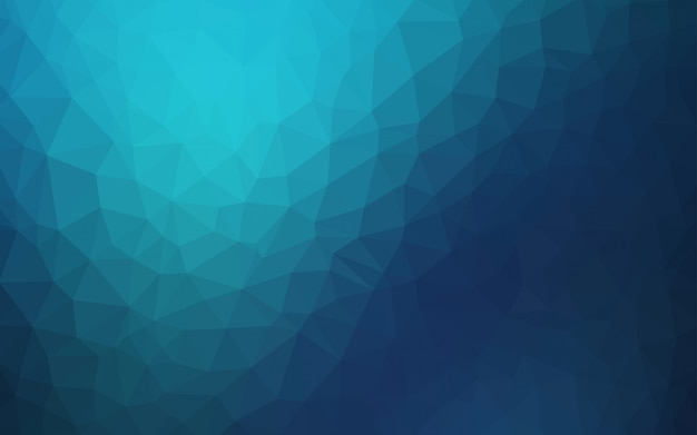 Dark blue vector low poly background.