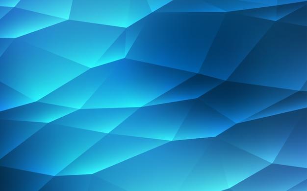 Dark blue vector texture in triangular style.