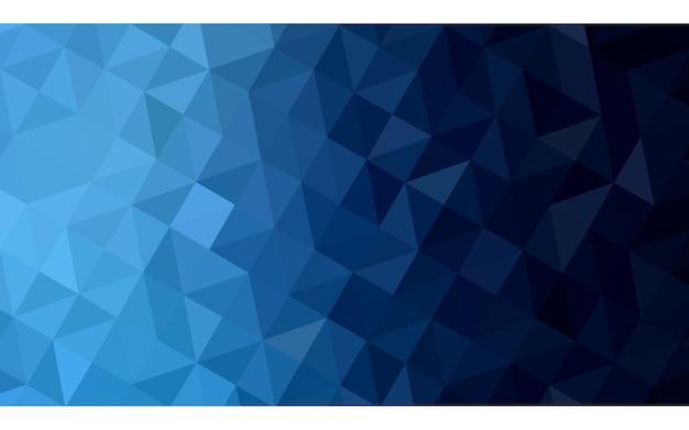 Dark blue vector triangle mosaic background