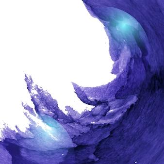 진한 파란색 수채화 물감 페인트 배경