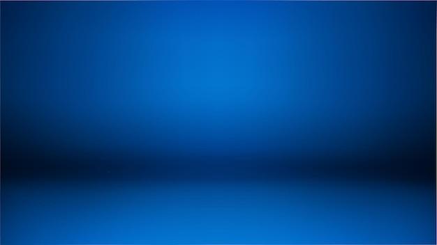 ダークブルーの広い背景、抽象的な壁のスタジオルームは、製品を提示するために使用できます。壁紙、スライドの背景、webサイトの抽象的なイラスト Premiumベクター
