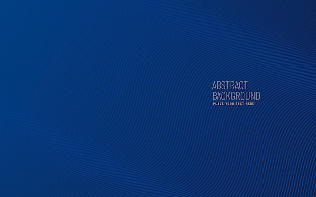 곡선 라인 패턴 질감 배경, 현대적이 고 최소한의 템플릿 복사 공간으로 진한 파란색.