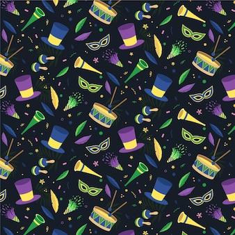 어두운 브라질 카니발 패턴