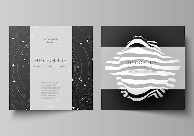 Dark brochure set