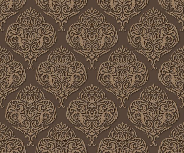 Dark brown seamless pattern