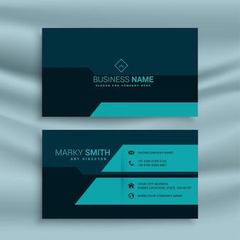 Dark business card design template