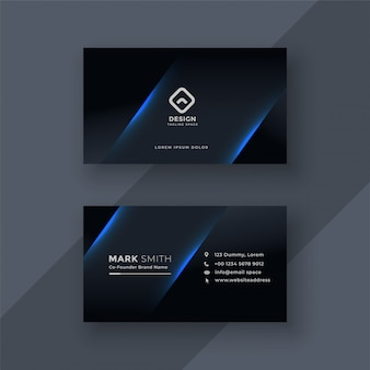 Dark business card template design