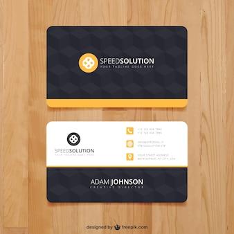 Dark business card template Premium Vector