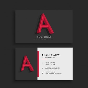 the letter black minimalist logo vectors photos and psd files free 25157 | dark business card with letter a 1017 3604