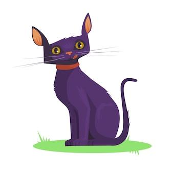 Иллюстрация темной кошки