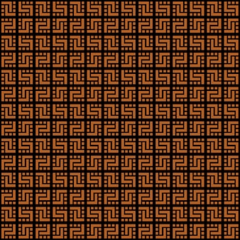 Dark checkered seamless pattern in scottish style