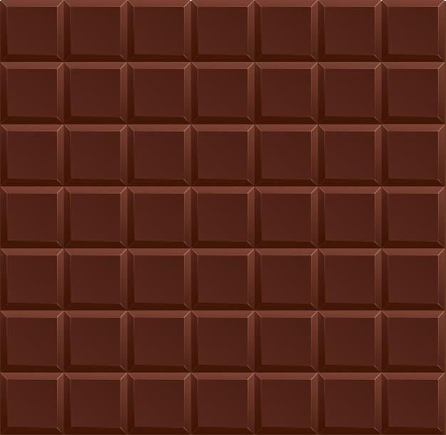 シームレスに分離されたダークチョコレートの背景