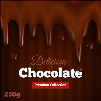Dark chocolate background print