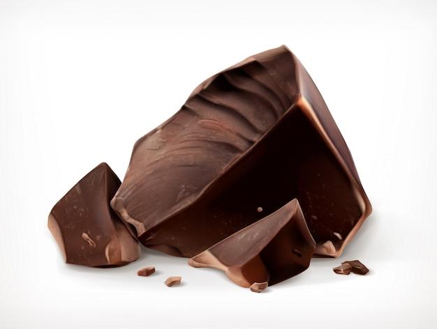 Кусочки темного шоколада, икона