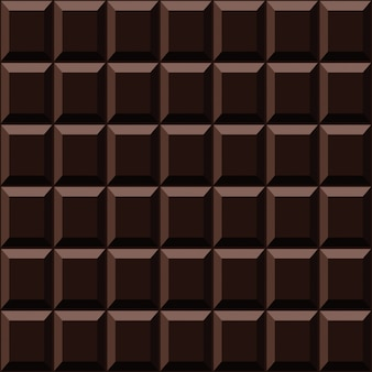 Dark chocolate seamless pattern sweet texture