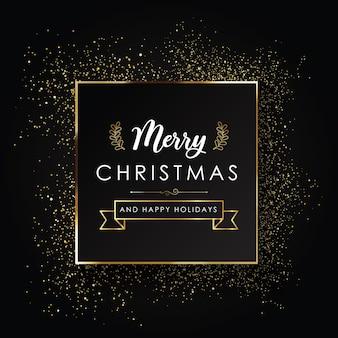 ダーククリスマスタイポグラフィポスター
