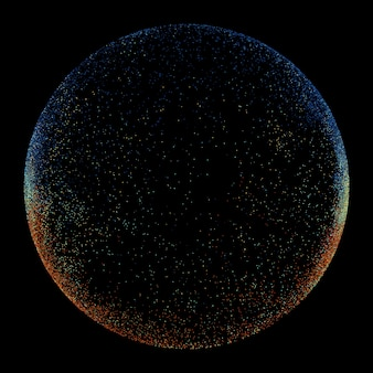Темный круг из волнистых линий