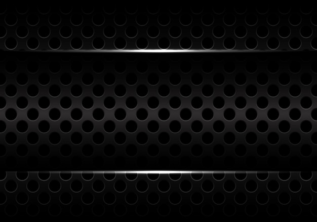 Dark circle mesh texture design modern futuristic background.