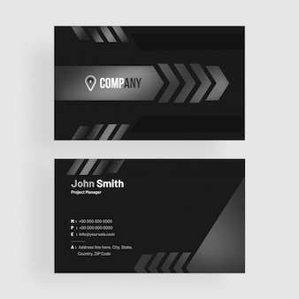 Dark, clean, black business card.
