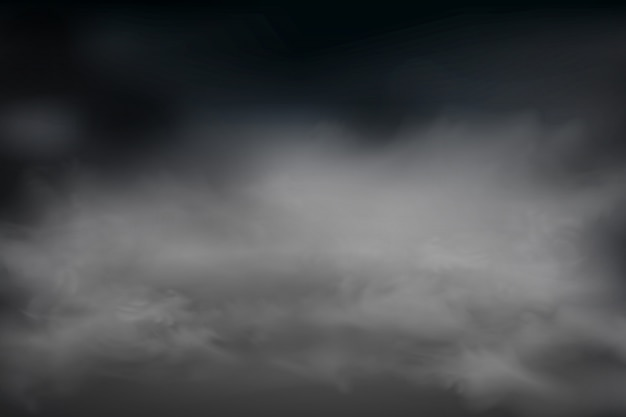 暗い雲の空の背景。曇り空またはスモッグ。ホームクリーニングのコンセプト、大気汚染、ビッグバン。