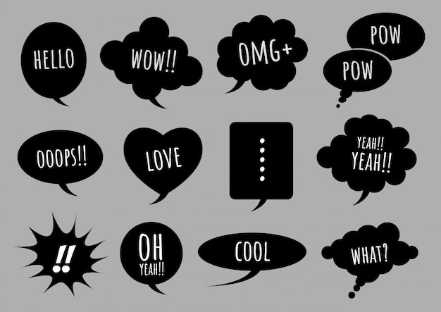 Dark comic speech bubble on dark