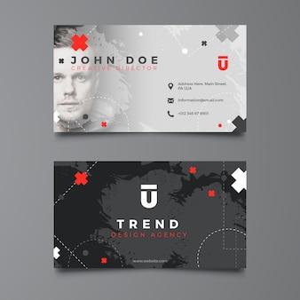 Dark corporate business card template Free Vector