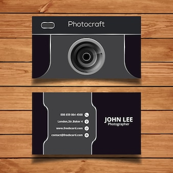 Dark corporate card, photography