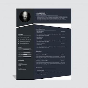 Dark corporate curriculum vitae template