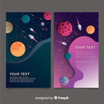 Dark cut out galaxy banner template
