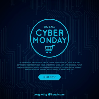 Dark cyber monday background