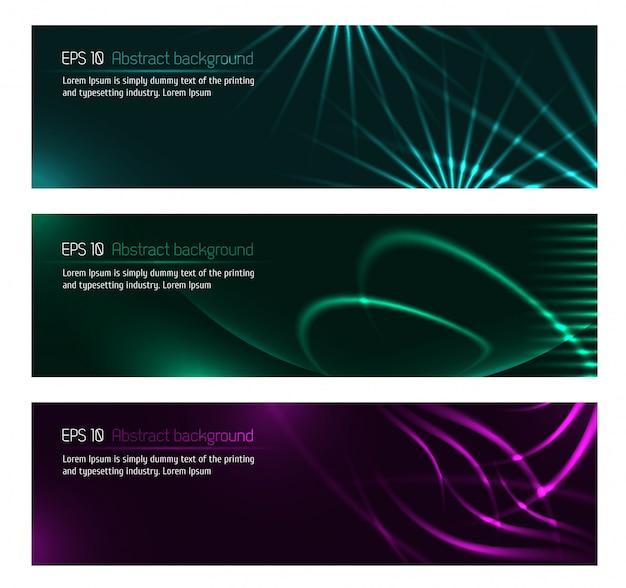 Dark design banners template