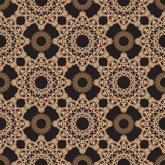 Dark dewy seamless pattern with vintage ornaments. wallpaper in a vintage style pattern. indian floral element. ornament for wallpaper, fabric, packaging and paper. vector illustration.