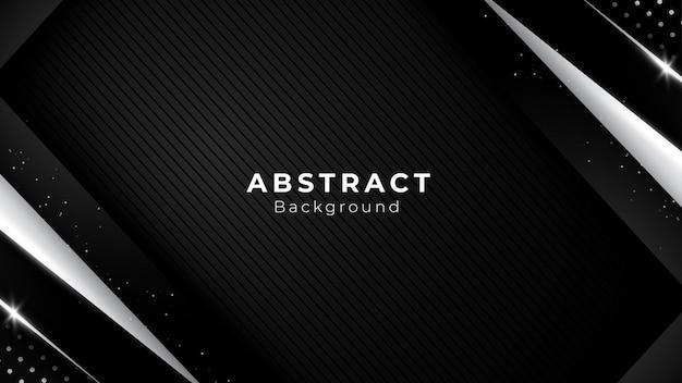 シルバープラチナシェイプのモダンで豪華なデザインの暗い斜めの形と斜めの線の背景