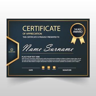 Dark diploma template design