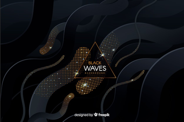 Dark dotted waves background