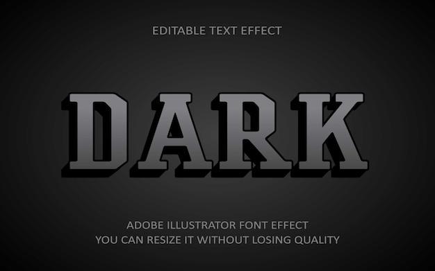 Dark editable text effect