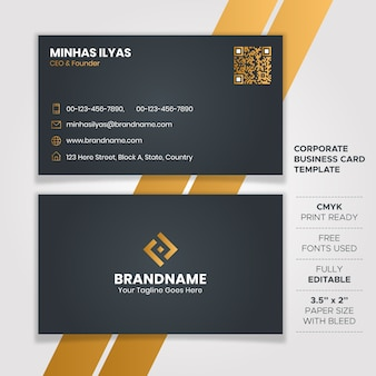 Dark elegant business card design