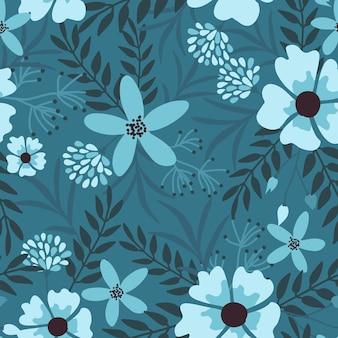 ダークエレガントな花のシームレスパターン。