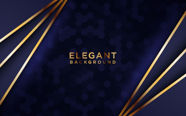 Dark elegant overlap background vector