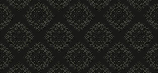 어두운 민족 원활한 패턴 템플릿
