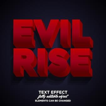 Dark evil 3d font effect