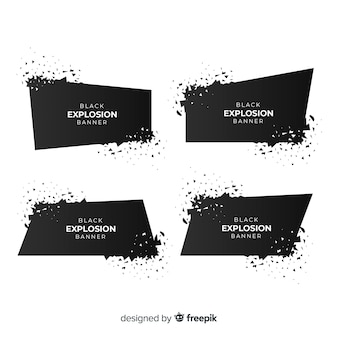 Dark explosion banner collection