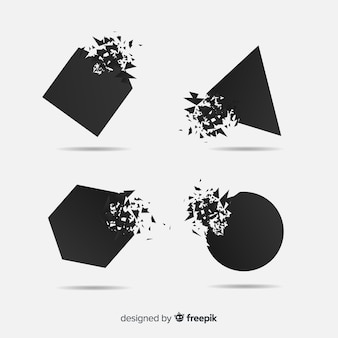 ダーク爆発バナーコレクション